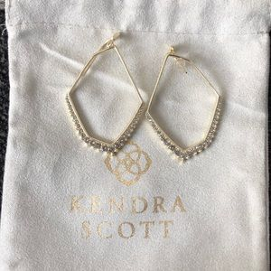 Kendra Scott Gold Bridal Earrings